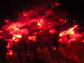 暖炉,炎,薪,炭